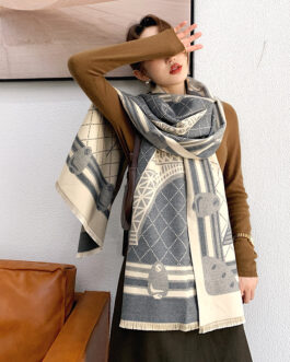 Fashion Design Print Warm Thick Scarves