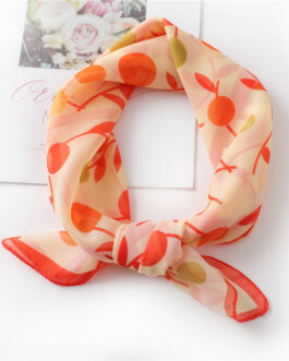 Fashion Floral Print Chiffon Neck Scarf