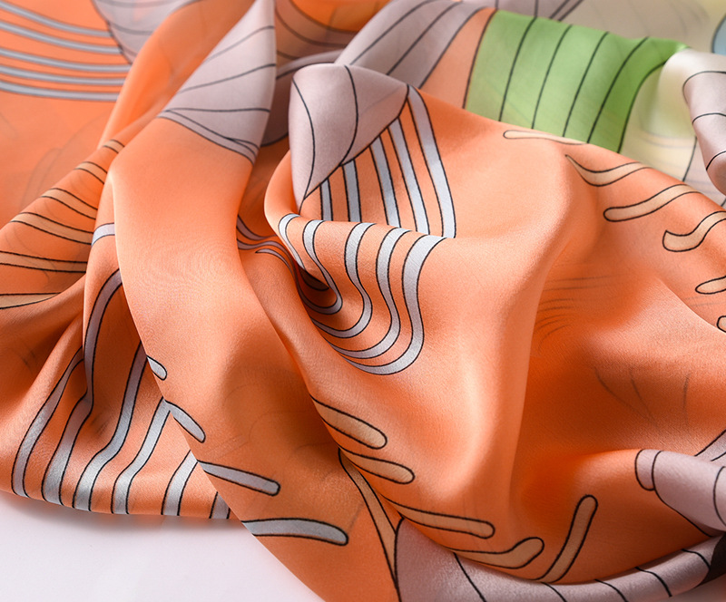Fashion Floral Printed Silk Scarves12