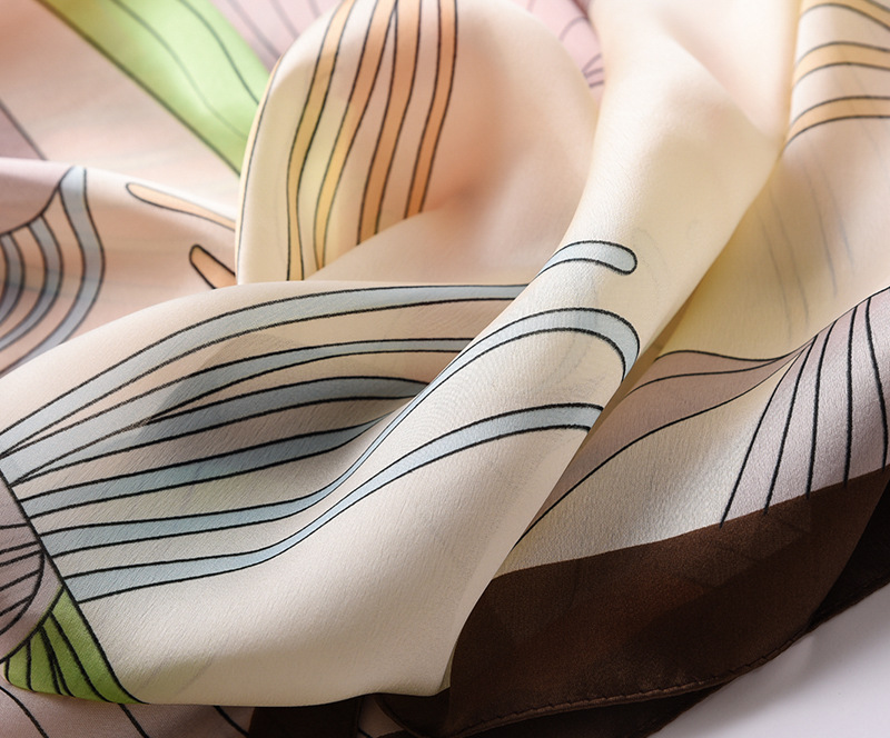 Fashion Floral Printed Silk Scarves13