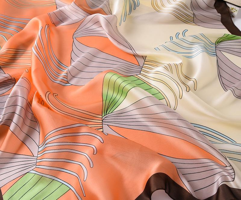 Fashion Floral Printed Silk Scarves14