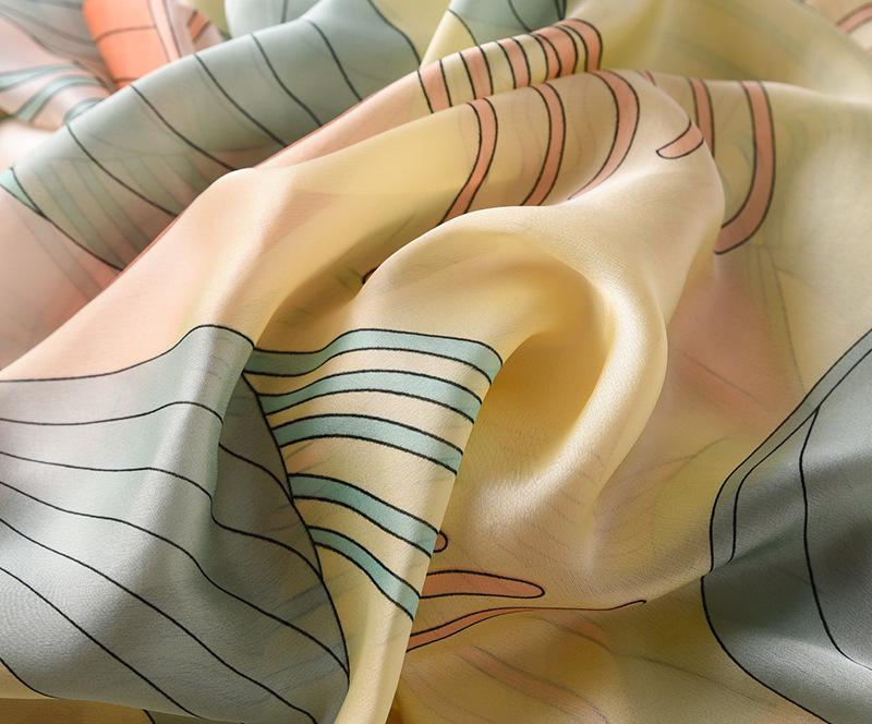 Fashion Floral Printed Silk Scarves2