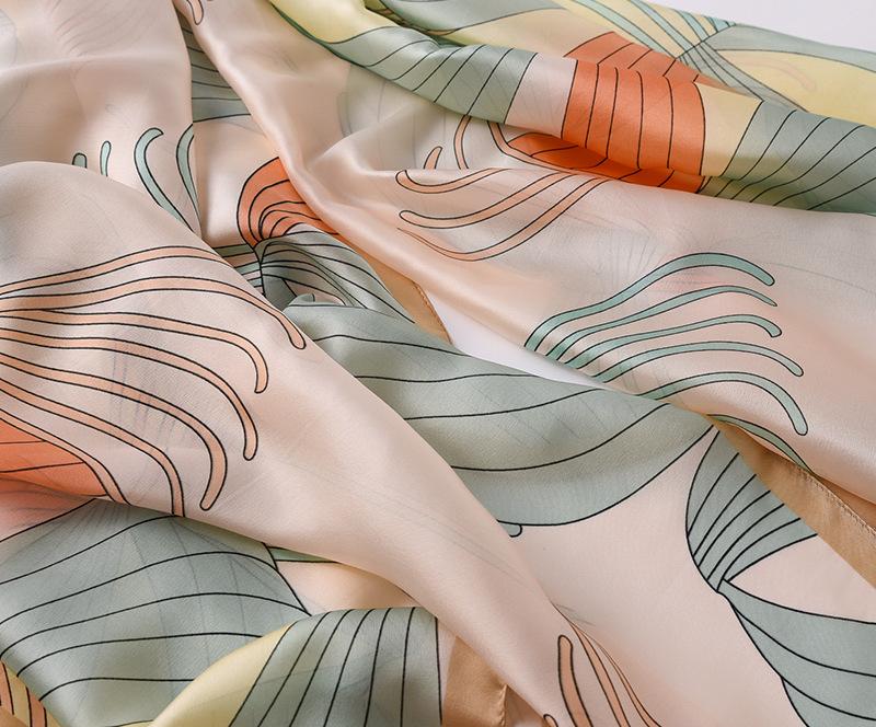 Fashion Floral Printed Silk Scarves3