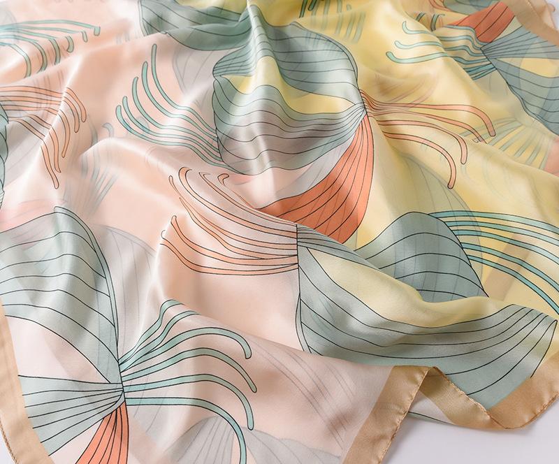 Fashion Floral Printed Silk Scarves4