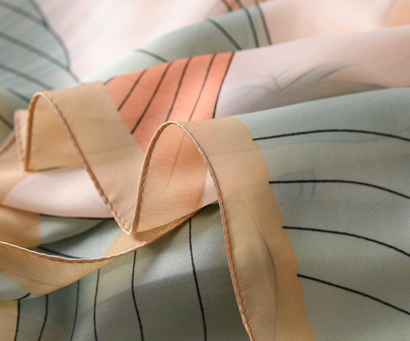 Fashion Floral Printed Silk Scarves6