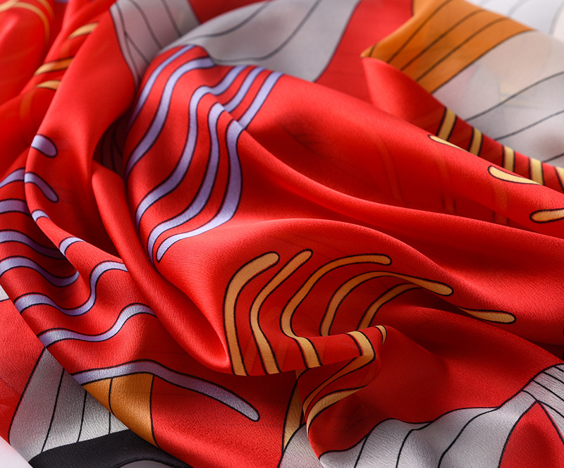 Fashion Floral Printed Silk Scarves8