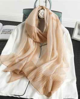 Fashion Luxury Striped Silk Scarf