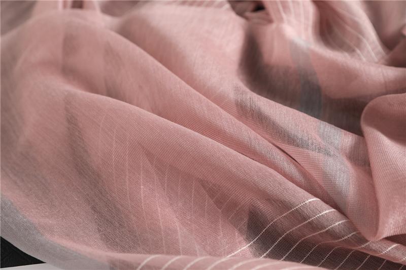 Fashion Luxury Striped Silk Scarf6