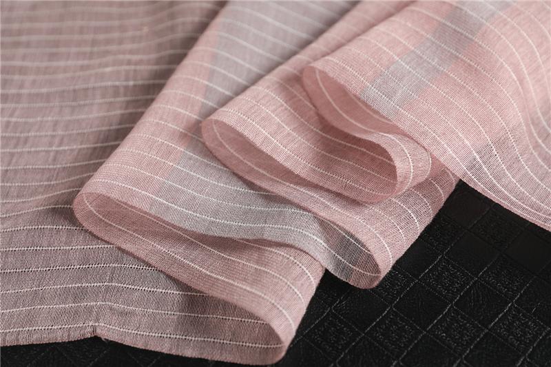 Fashion Luxury Striped Silk Scarf7