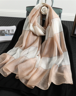 Fashion Silk Wool Striped Scarf