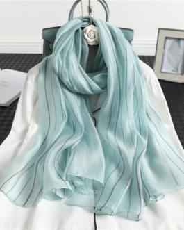 Fashion Striped Silk Long Scarves