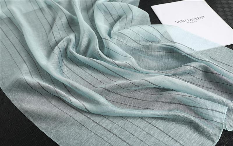 Fashion Striped Silk Long Scarves1