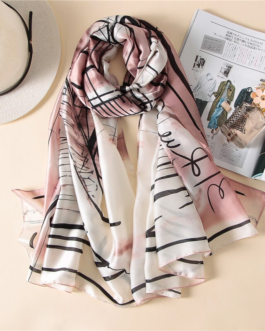 Fashion luxury brand silk scarves