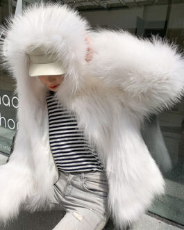 Faux Fur Coats Long Sleeves Coat