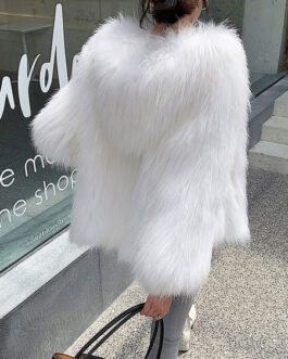 Faux Fur Coats Long Sleeves Coat