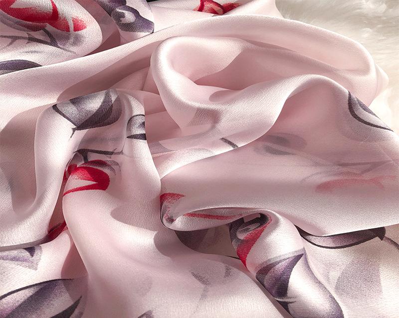 Flower Print Silk Scarves10