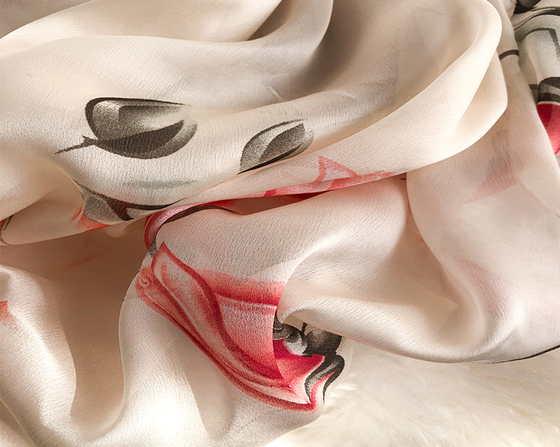 Flower Print Silk Scarves18