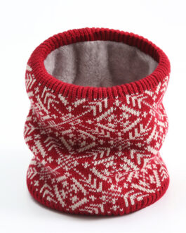 Knitted Print Christmas Ring Neck Scarf