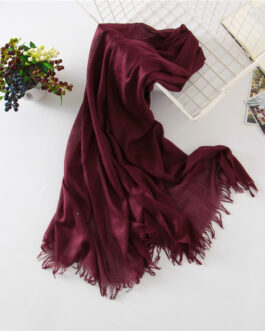 Large Size Solid Cotton Scarf