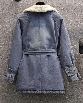 Long Sleeve Warmth Preservation Denim Jacket
