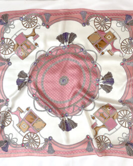Luxury 100% Silk Printed Square Scarves