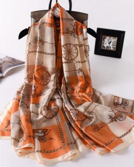 Luxury Brand Printed Silk Scarves