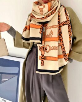 Luxury Chain Print Thick Warm Stole