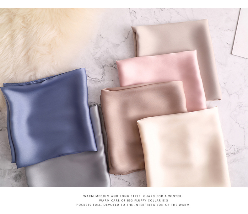 Luxury Fashion Pure Color Silk Scarf14