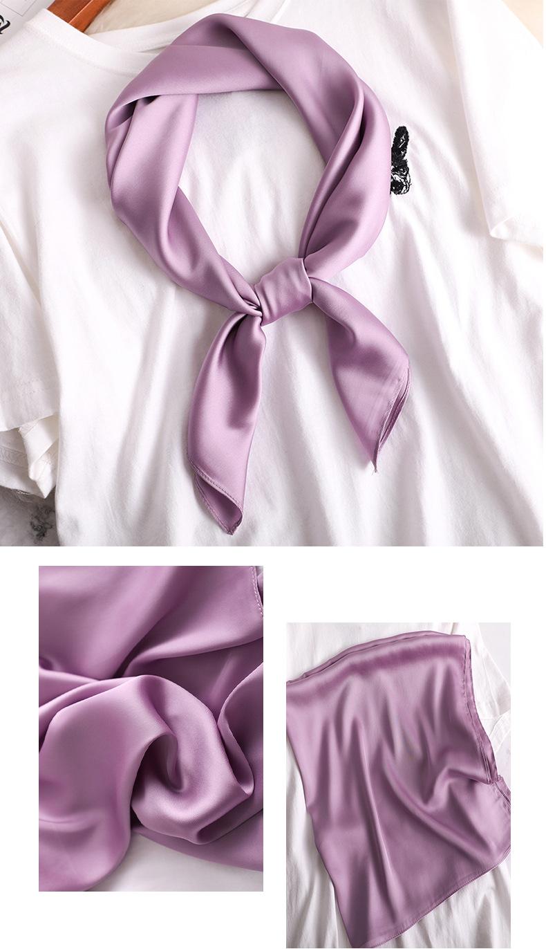 Luxury Fashion Pure Color Silk Scarf15