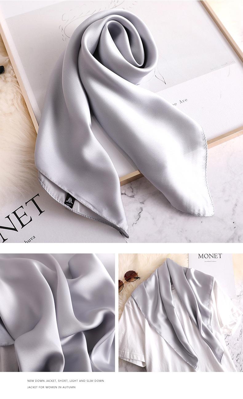 Luxury Fashion Pure Color Silk Scarf16