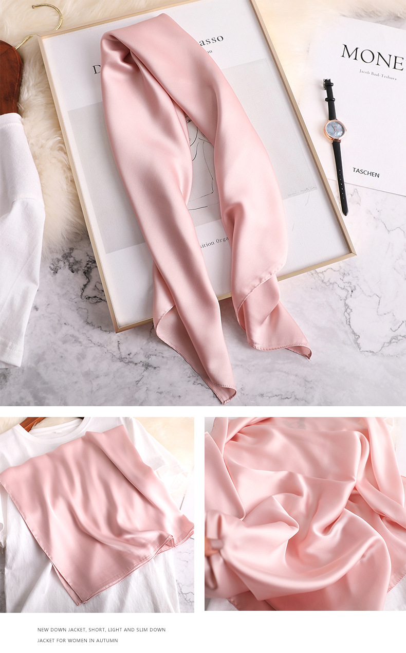 Luxury Fashion Pure Color Silk Scarf18