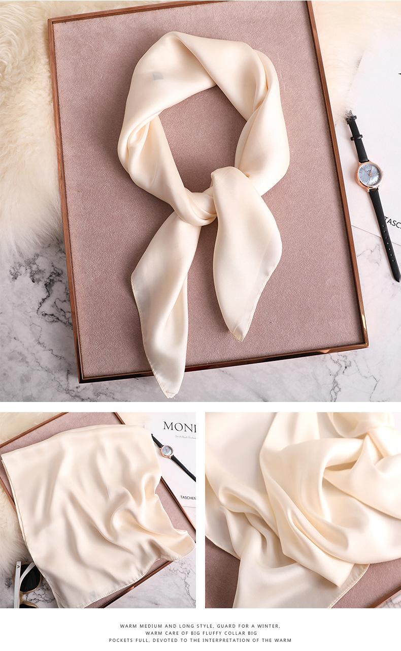 Luxury Fashion Pure Color Silk Scarf19