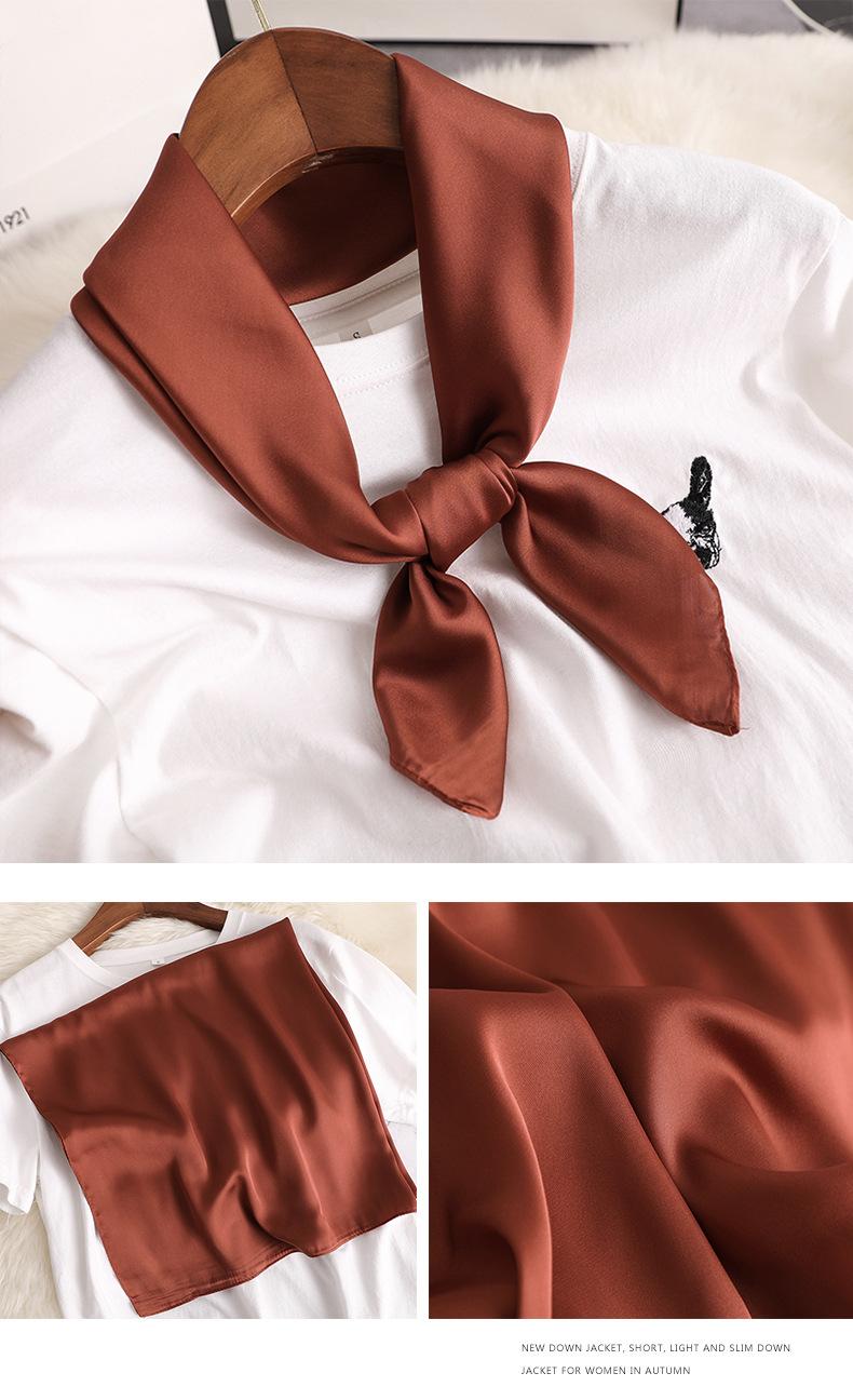 Luxury Fashion Pure Color Silk Scarf2
