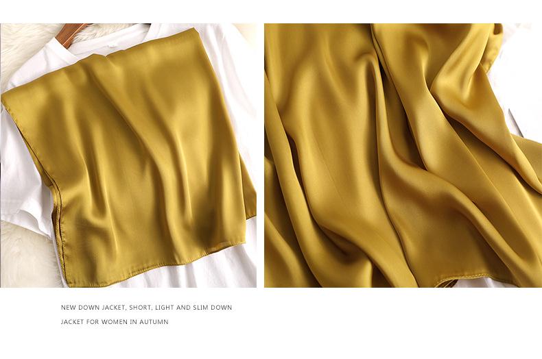 Luxury Fashion Pure Color Silk Scarf6