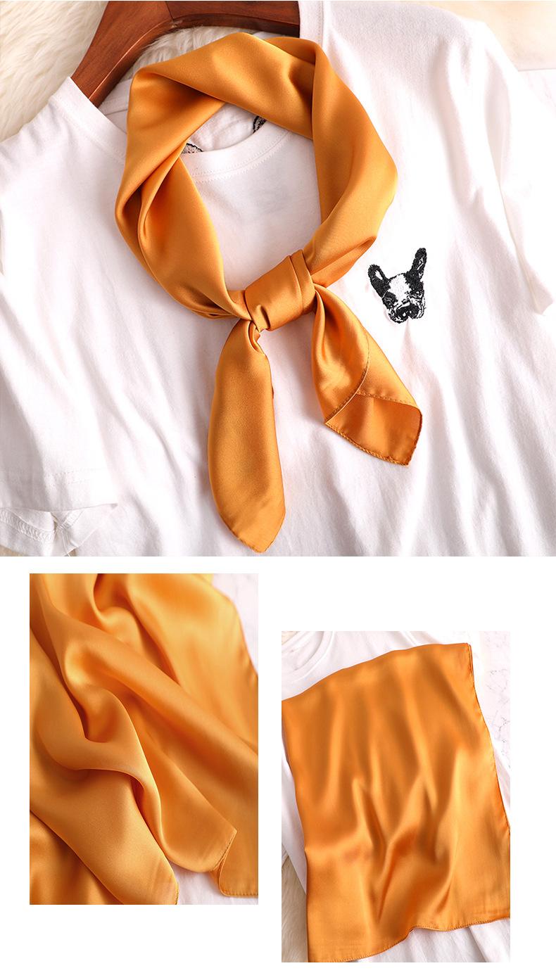 Luxury Fashion Pure Color Silk Scarf8