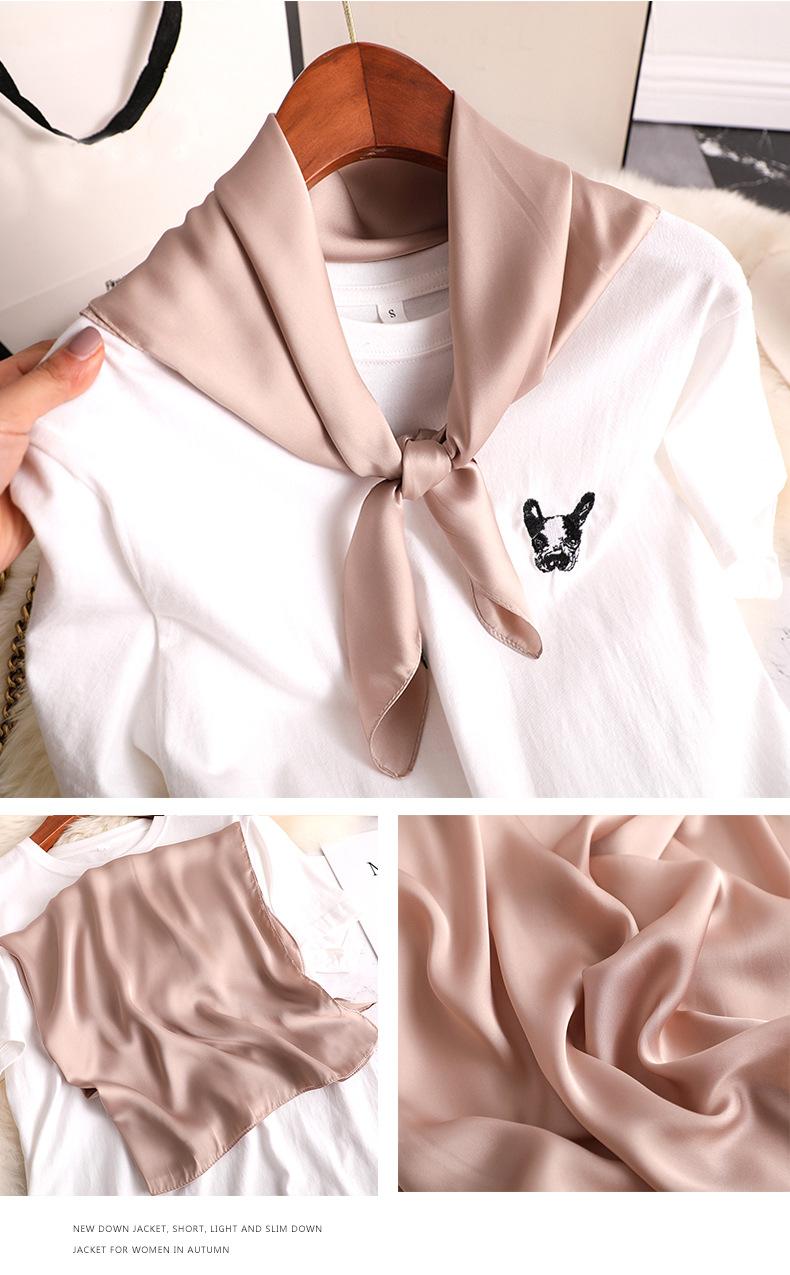 Luxury Fashion Pure Color Silk Scarf9