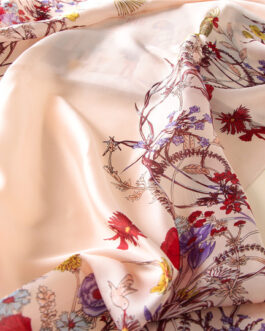 Luxury brand floral print silk scarves
