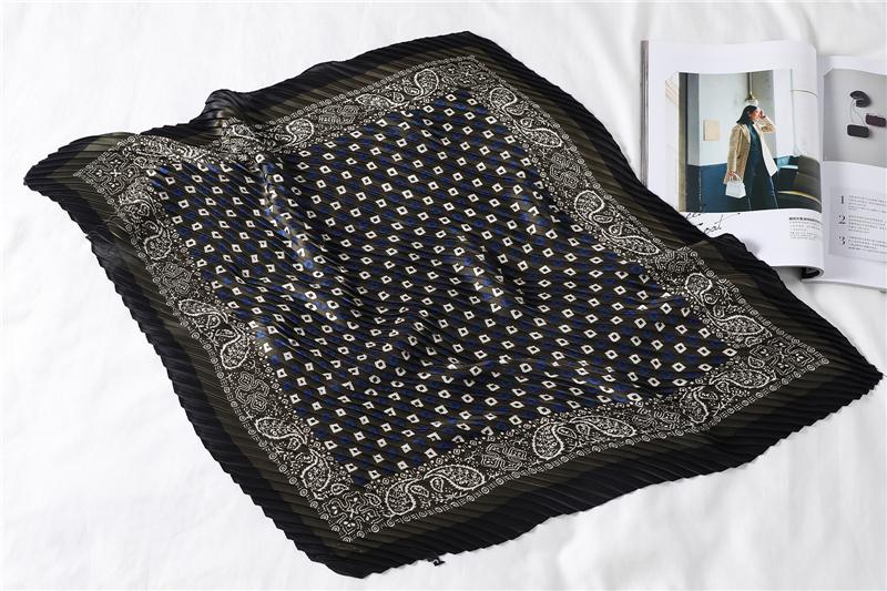 New Design Crinkle Dot Print Silk Scarf12