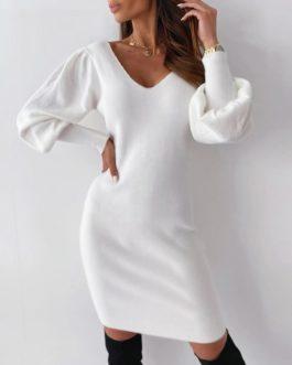 Nightclub open back knee length dress