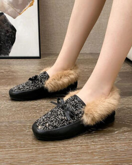 PU Leather Round Toe Casual Loafers Shoes