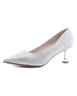 Pointed Toe Stiletto Heel Chic Sequined Cloth Medium Width Pumps