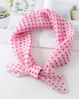 Polka Dot Chiffon Neck Scarves