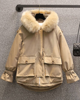 Puffer Long Sleeves Polyester Coat