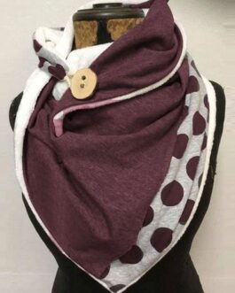 Solid Color Dots All-Match Thick Warmth Shawl Printed Scarf