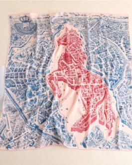 Square Silk Scarf Horse Print
