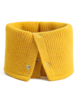 Unisex Ring Scarf Warm Collar Button Neck Scarves