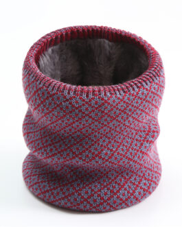 Unisex Warm Knitted Collar Ring Neck Scarf