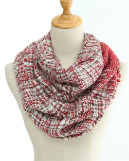 Warm Knitted Gradient Neck Scarf