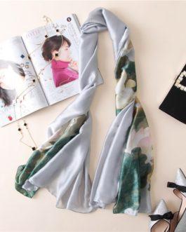 luxury brand fashion soft print scarf