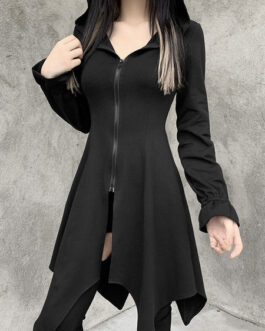 Hoodies Gothic Cotton Top Retro Dress